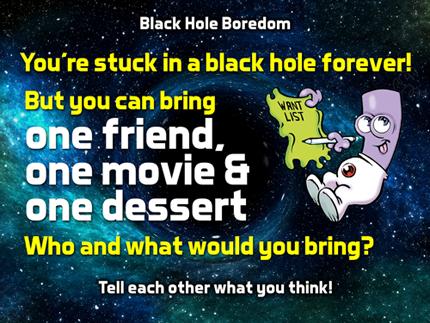 Question screen about favorite friend, movie, dessert.